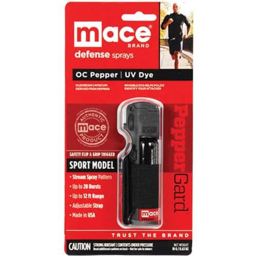 Black Mace® Pepper Spray Jogger Viewed in Packaging