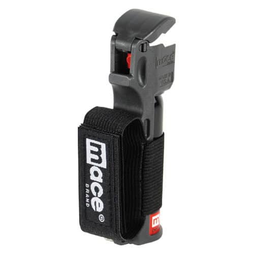 Black Mace® Pepper Spray Jogger Side View Showing Finger Strap