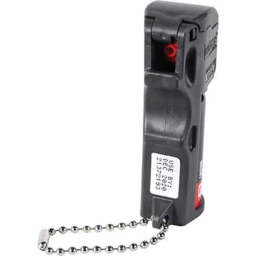 Mace® PepperGard Pocket Pepper Spray with Keychain Front View of Business end of Spray Nozzle