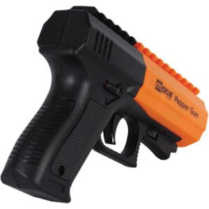Black and Orange Mace® Brand Pepper Gun 2.0 Back View