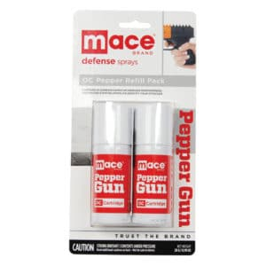 Mace OC Pepper Spray Refills for Pepper Gun Viewed in Packaging