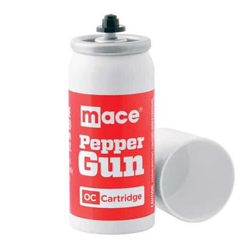 Front View Mace Pepper Gun OC Pepper Spray Refill Cartridge