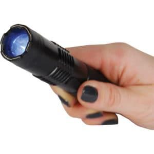 15,000,000 volt BashLite Stun Gun Flashlight Viewed in Hand