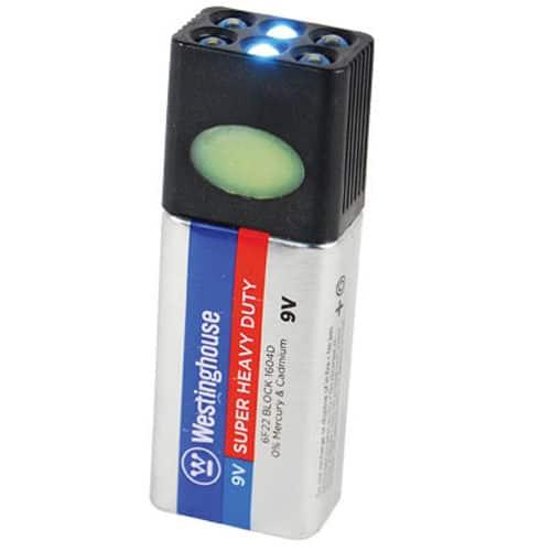 Blocklite 9 volt LED Flashlight Viewed with Single Lights Illuminated