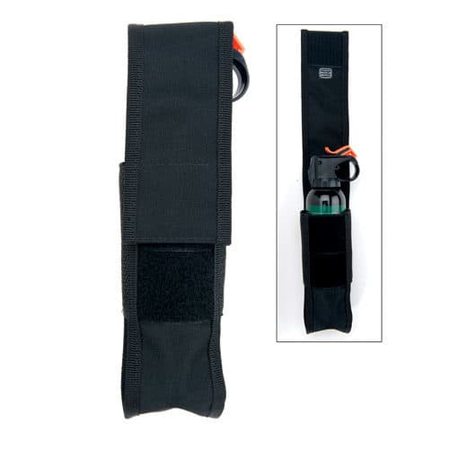 Bear Spray 9 ounce Nylon Holster Viewed Standing and Showing Belt Holder