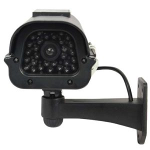 Black Solar Dummy Camera Front View