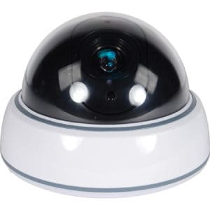 White Dummy Dome Camera with LED View of the Dome and Camera