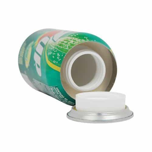 Lemon Lime Soda Can Diversion Safe Top View Revealing Inner Stash Cavity