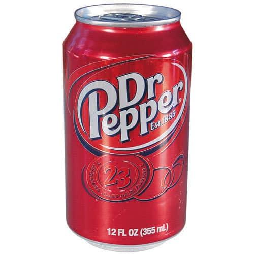 Dr Pepper Soda Can Secret Stash Safe Front View