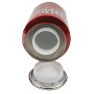 Dr Pepper Soda Can Secret Stash Safe Top View Revealing Diversion Compartment