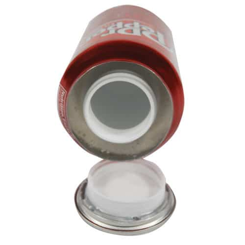 Dr Pepper Soda Can Secret Stash Safe Top View Revealing Diversion Compartment