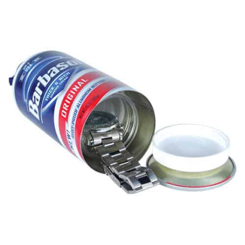 Shaving Cream Hidden Stash Safe Bottom View Revealing Compartment