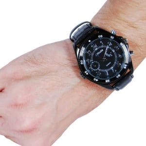 Covert Hidden Watch Camera with Built-In DVR Viewed on Wrist
