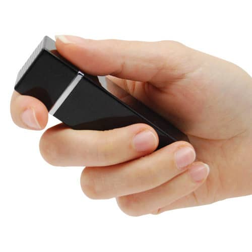 Black Lipstick Alarm Viewed in hand