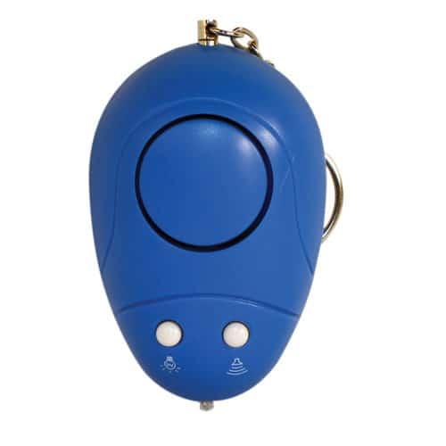 Blue Key Chain Personal Alarm Top View