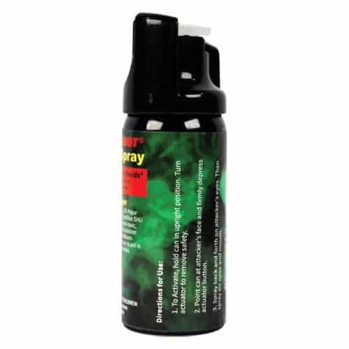 Pepper Shot 1.2% MC 2 oz Pepper Spray Side View