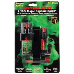 Pepper Shot 1.2% MC Tri-Pack Pepper Spray Front View Package