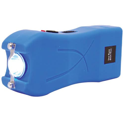 Runt Blue Stun Gun with Flashlight Side View