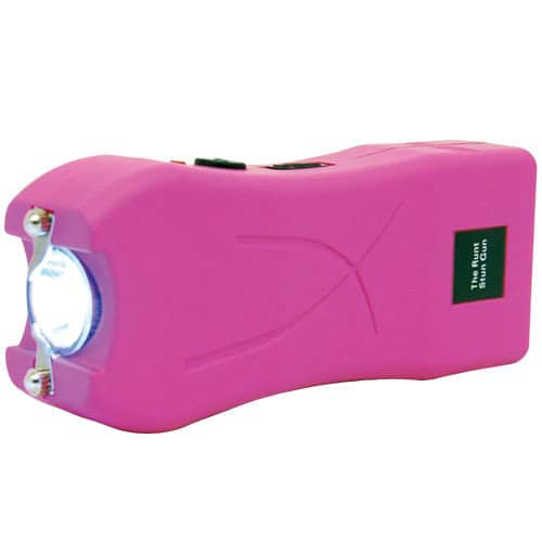 Pink Runt Stun Gun Flashlight in Side View