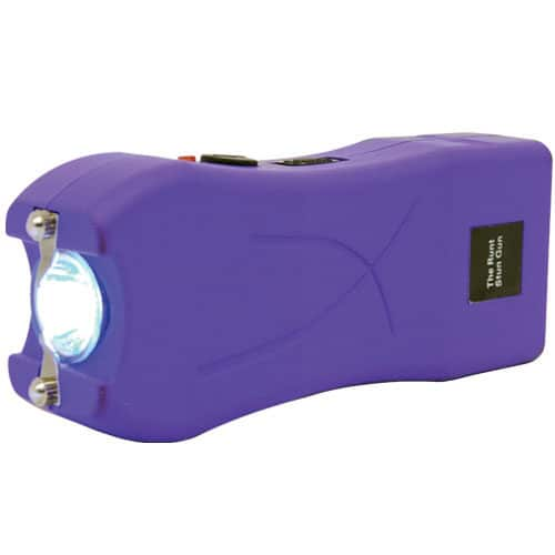Runt Purple Stun Gun Flashlight in Side View