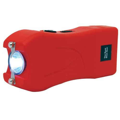 Red Runt Stun Gun with Flashlight Side View