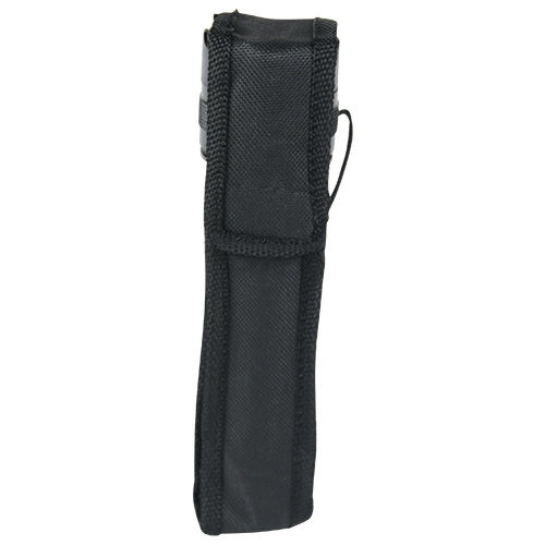 Small Shorty Flashlight Stun Gun Viewed in Nylon Holster