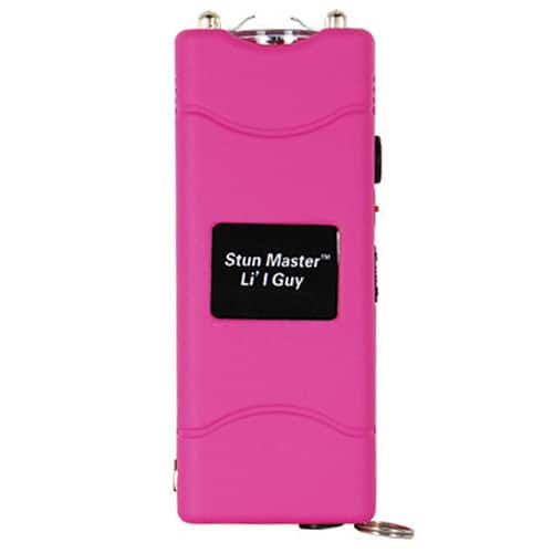 Pink Lil Guy Small 12 Million Volt Stun Gun Flashlight Front View