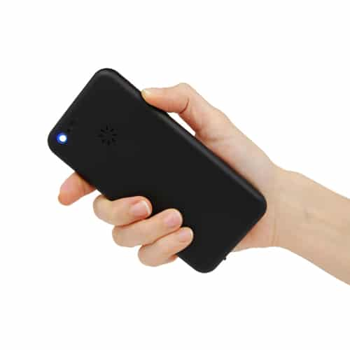 Cell Phone Stun Gun with Light Back View Held in Hand