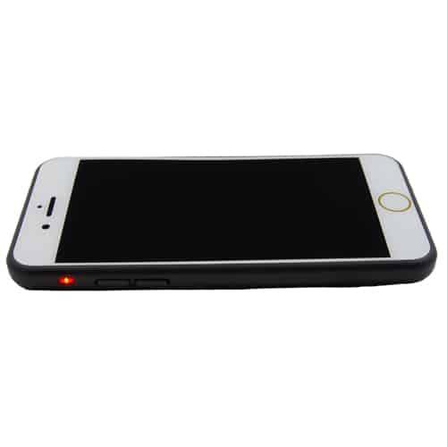 Rechargeable Stun Gun Cell Phone Top View Flat