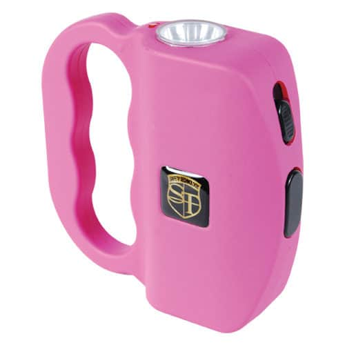 Front View Pink 18 Million volt Talon Stun Gun with LED Flashlight