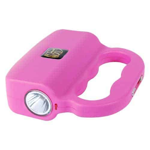 Pink Talon 18 Million volt Stun Gun Laying Down Showing LED Flash Light