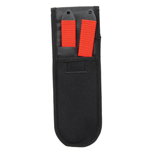 2 Piece Red Throwing Knife Set 440 stainless steel Viewed in Sheath