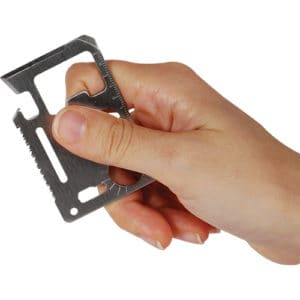 11 Function Credit Card Survival Tool Viewed in Hand