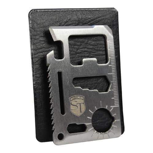 11 Function Credit Card Survival Tool Viewed with Case