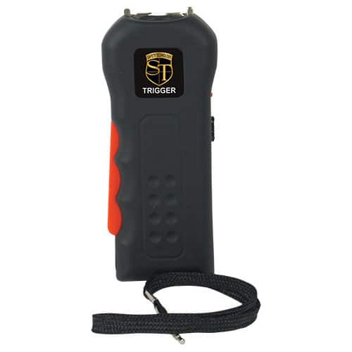 Black Trigger Rechargeable Stun Guns View Wrist Strap