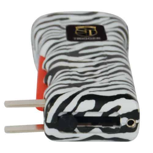 Zebra Trigger Stun Guns View Recharging Port