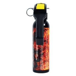 9 Ounce Wildfire™ 1.4% MC Sticky Pepper Spray Gel Back View Pistol Grip