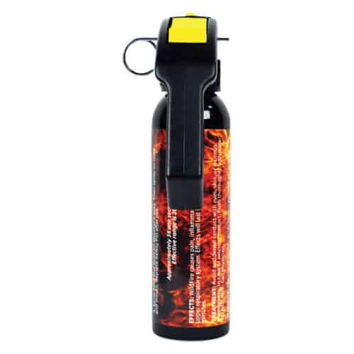 9 Ounce Wildfire™ 1.4% MC Sticky Pepper Spray Gel Back View Pistol Grip