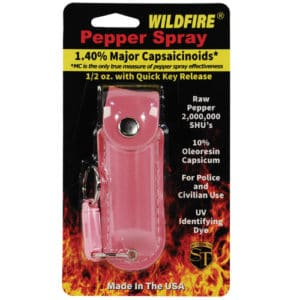 Wildfire™ Pepper Spray 1/2 oz With Pink Leatherette Holster in Shipping Pack
