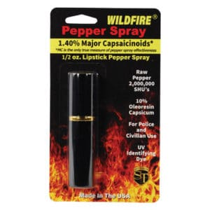 Black Wildfire™ 1.4% MC 1/2 oz Lipstick Pepper Spray Blister Packaging View