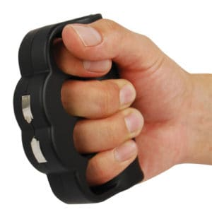 ZAP Knuckle Blaster Stun Gun Displayed in Hand