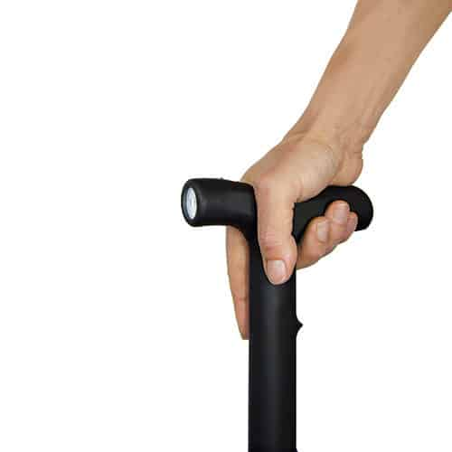 ZAP™ Stun Cane Flashlight Viewed in Hand