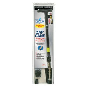 ZAP™ Stun Cane Flashlight View in Blister Pack