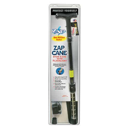 ZAP™ Stun Cane Flashlight View in Blister Pack