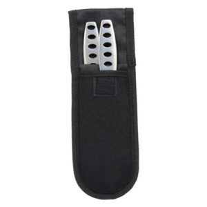 440 Stainless Steel Throwing Knife 2 Piece Set Viewed in Sheath