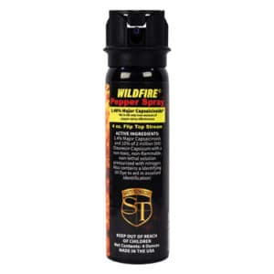 16 ounce Fire Master Wildfire™ 1.4% MC Pepper Spray Fogger Side View Ingredients