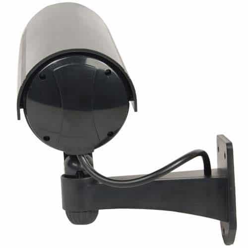 Fake Black Bullet Style IR Dummy Camera Back Upward Angle View