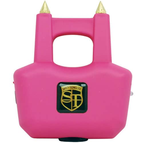 Front View Pink Stun Gun Spikes