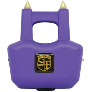 Front View Purple Stun Gun with Spikes