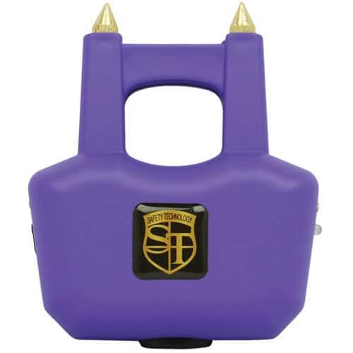 Front View Purple Stun Gun with Spikes